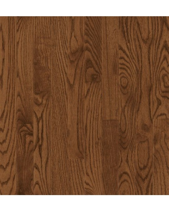 Bruce Mancheste Strip & Plank Red Oak Saddle Solid Traditional Finish 2 1/4""