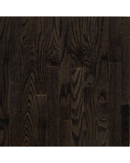Bruce Dundee Strip White Oak Espresso Solid Traditional Finish 3 1/4""