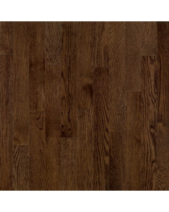 "Bruce - Dundee Wide Plank Solid 4"" - Micro Edge / Square Ends - Red Oak - Mocha"