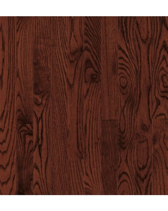 Bruce Bristol Plank Red Oak Cherry Solid Traditional Finish 3 1/4""