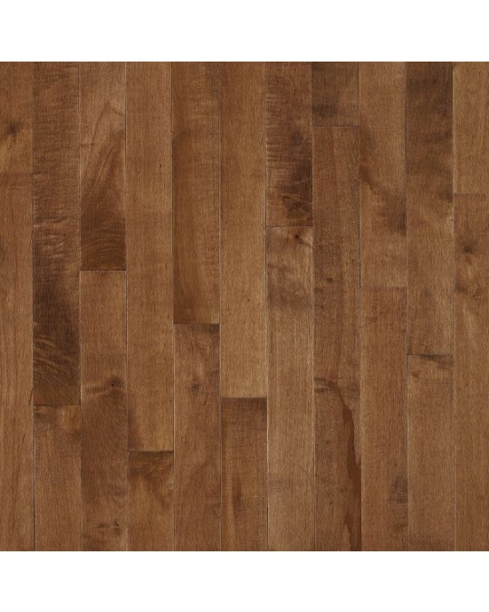 Bruce Kennedale Prestige Plank Dark Maple Hazelnut Solid Traditional Finish 3 1/4""