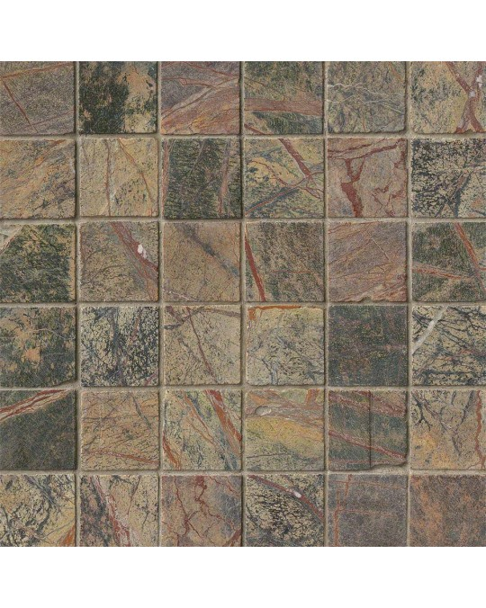 M S International - Natural Stone Marble Rain Forest Tumbled 2 X 2 Marble