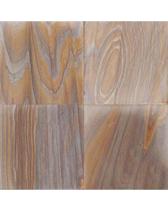 M S International - Natural Stone Slate/Quartize Rainbow Teak Gauged 16 X 16 Slate/Quartize