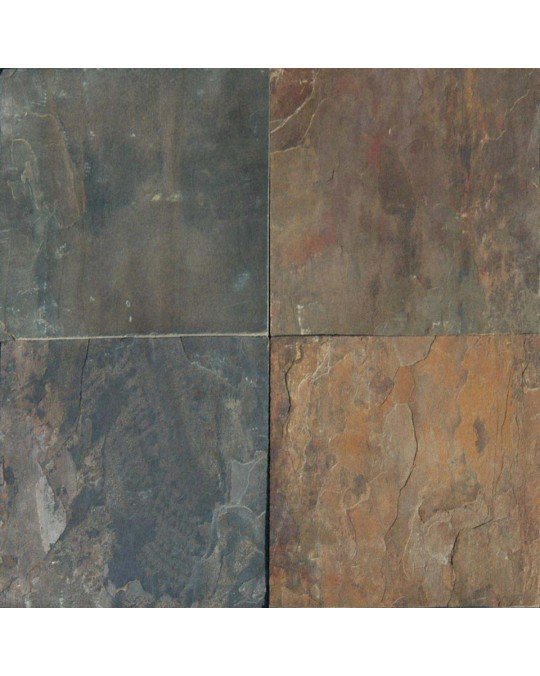 M S International - Natural Stone Slate/Quartize Rustic Gold Gauged 16 X 16 Slate/Quartize