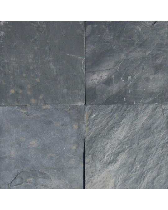 M S International - Natural Stone Slate/Quartize Silver Blue Gauged 16 X 16 Slate/Quartize