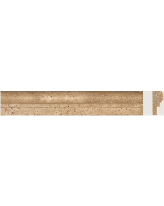 M S International - Natural Stone Travertine Tuscany Walnut Chair Rail Honed 1 X 2 Travertine
