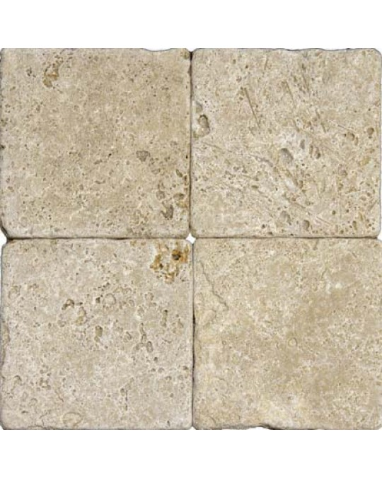 M S International - Natural Stone Travertine Tuscany Walnut Tumbled 6 X 6 Travertine
