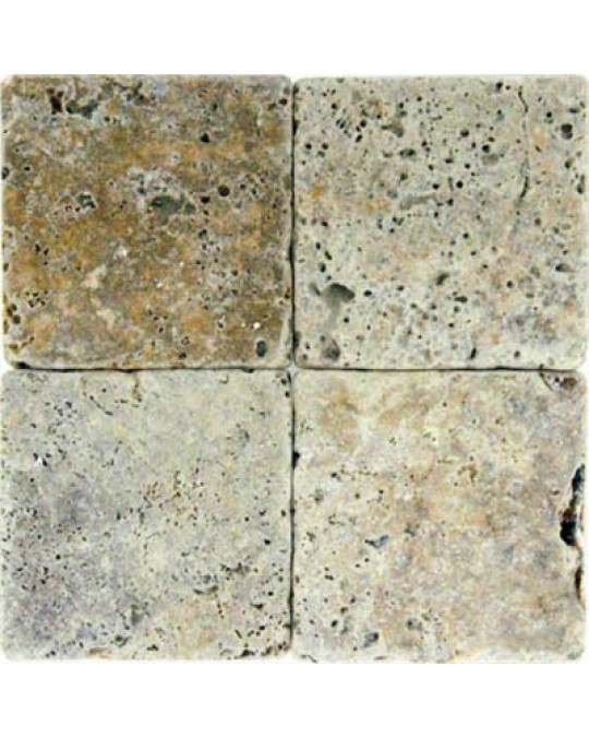 M S International - Natural Stone Travertine Tuscany Scabas Tumbled 6 X 6 Travertine