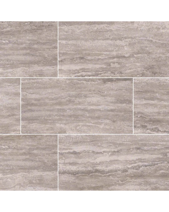 M S International - Tile Pietra Gray Polished 3 X 18