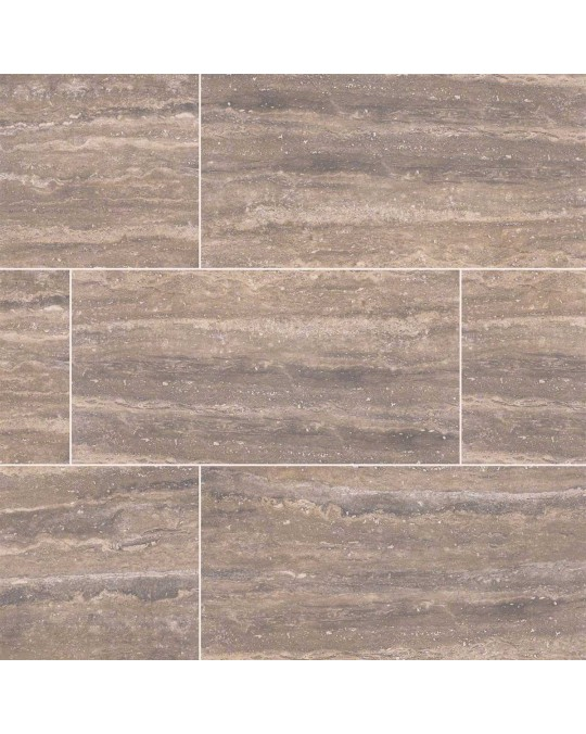 M S International - Tile Pietra Noce Polished 12 X 24
