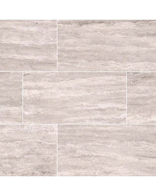 M S International - Tile Pietra White Polished 2 X 4