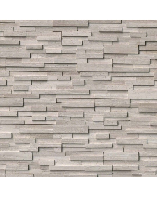 "M S International - Natural Stone Ledgers White Oak 3d Hon Corner "" L"" Panel Honed 6 X 24 Ledgers"