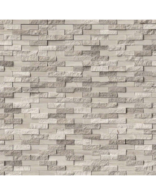 M S International - Natural Stone Marble White Oak Splitface Misc. Pattern Marble