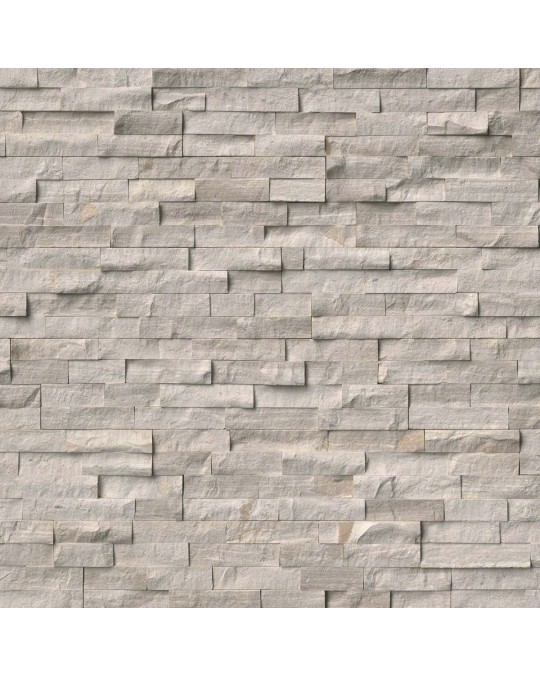 "M S International - Natural Stone Ledgers White Oak Splitface "" L"" Panel Honed 6 X 24 Ledgers"